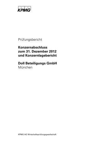 Prüfungsbericht Konzernabschluss zum 31. Dezember 2012 und ...