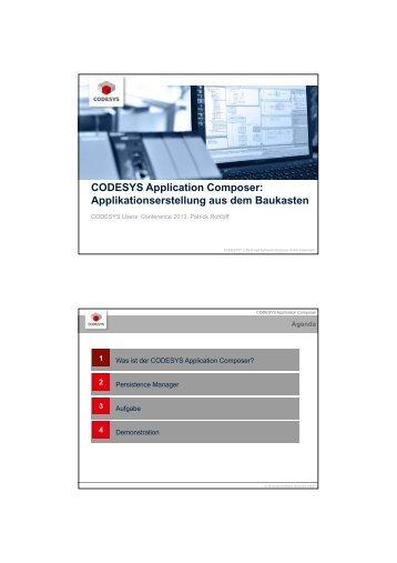 CODESYS Application Composer: Applikationserstellung aus dem ...