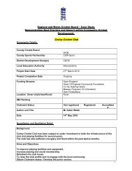 NatWest CricketForce 2010 - Case Study - Corley - Ecb - England ...