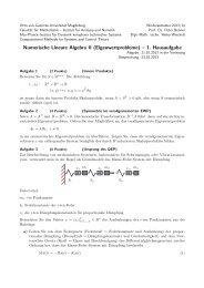 Hausaufgabe 1 - Max-Planck-Institut Magdeburg