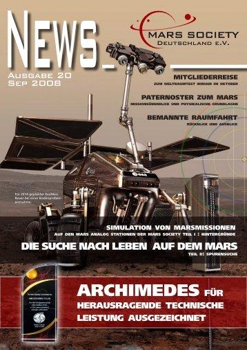 Januar 2008 - Mars Society Deutschland e.V.
