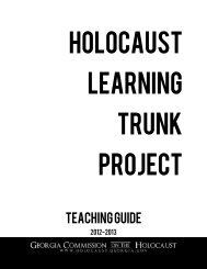 Teaching Guide - Georgia Commission on the Holocaust