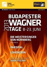Budapester Wagner-Tage – zum achten Mal 2013 - 50plusbudapest.at