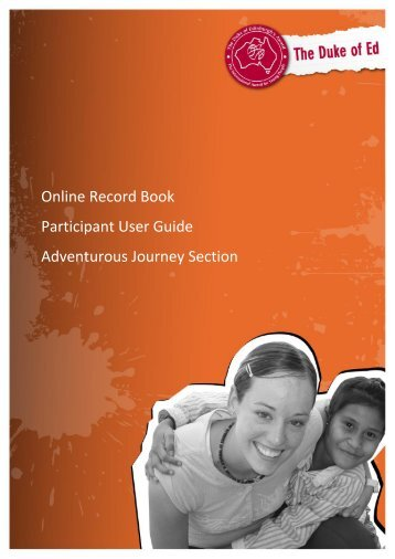 Online Record Book Participant User Guide Adventurous Journey ...