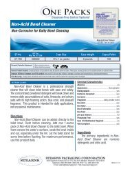 Non-Acid Bowl Cleaner - Stearns Packaging Corporation