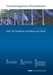 Versicherungsforen-Themendossier - Versicherungsforen Leipzig