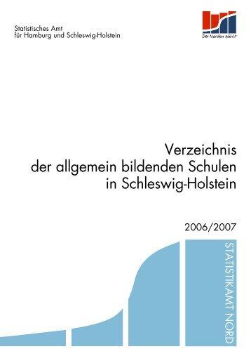 Verzeichnis der allgemein bildenden Schulen in ... - Statistikamt Nord