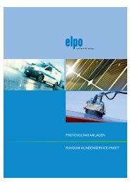 Photovoltaikanlagen Rundum-kundenseRvice-Paket - Elpo