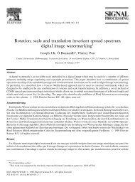 Rotation, scale and translation invariant spread spectrum digital ...