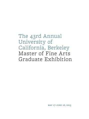 exhibition brochure (PDF) - Berkeley Art Museum and Pacific Film ...