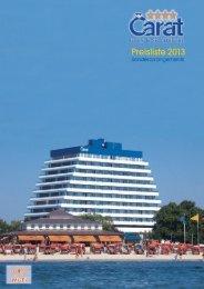 Preisliste 2013 - Hotel Carat