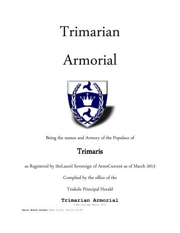Ordinary & Armorial - Kingdom of Trimaris