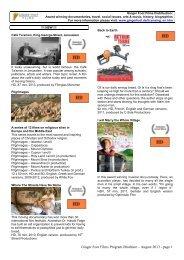 Ginger Foot Films Program Brochure – August 2013 - page 1