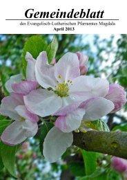 April - Evangelisch-Lutherischer Kirchkreis Jena