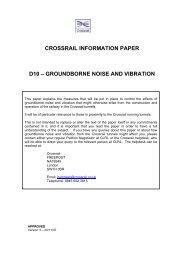 crossrail information paper d10 – groundborne noise and vibration