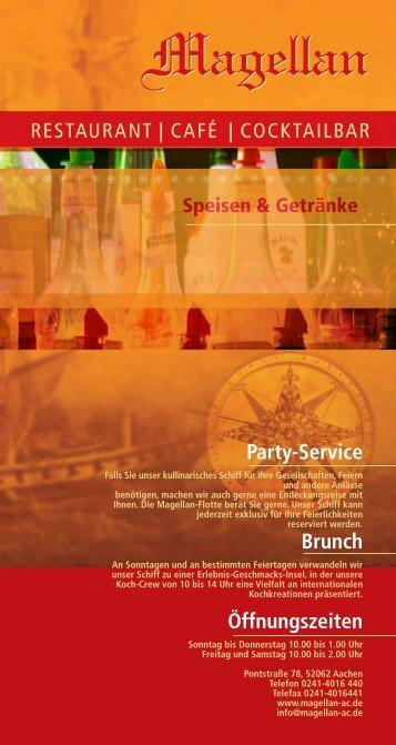 Party-Service Brunch Öffnungszeiten - Magellan