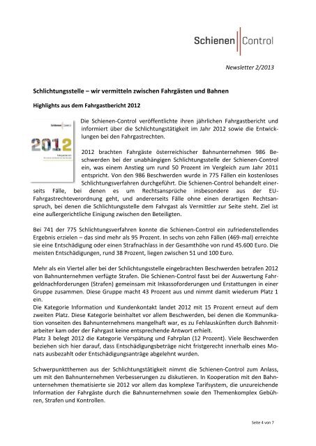 Nr.: 2 - 2013 - Schienen-Control
