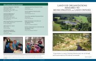 LAND USE ORGANIZATIONS AVAILABLE TO MUNICIPALITIES and ...