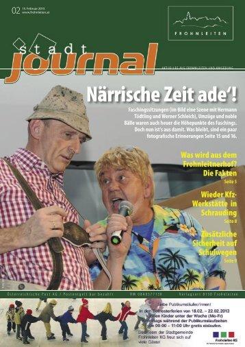 Februar 2013 jetzt lesen - Stadtgemeinde Frohnleiten