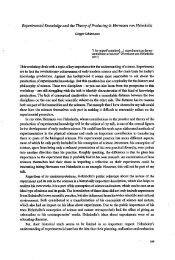 Experimental Knowledge and the Theory of Producing it - Philosophie