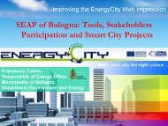The implementation strategies of the SEAP of the City of Bologna
