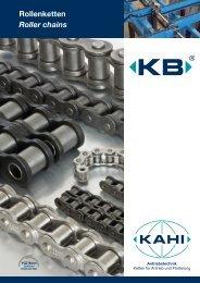Rollenketten Roller chains - KAHI-Antriebstechnik GmbH