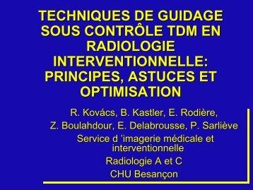 techniques de guidage sous contrôle tdm en radiologie ...