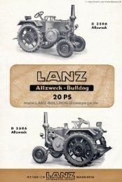 Page 1 © John Deere-Lanz Verwaltungs-AG D 3 5 0 6 Allzweck 20 ...