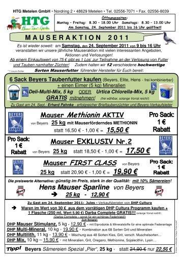 Mauser Methionin AKTIV - Haus.Tier.Garten - Metelen GmbH