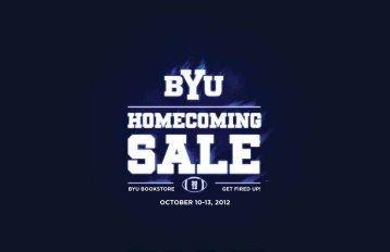 OCTOBER 10-13, 2012 - BYU Bookstore