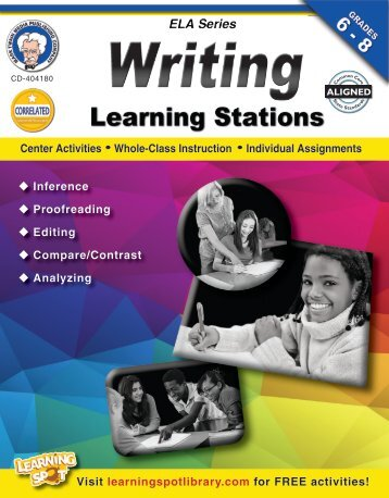 Writing Learning Stations Grades 6–8 English Language Arts series ...