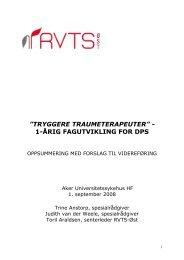tryggere traumeterapeuter - Sykehuset Innlandet HF