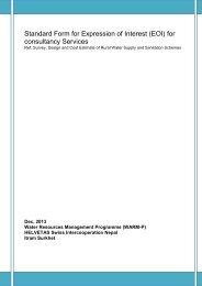 Standard Format for Expression of Interest (EOI) for ... - Helvetas