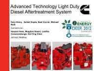 Advanced Technology Light Duty Diesel Aftertreatment System
