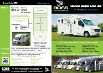 Download the Supa-Lite 35 brochure - Boss Horseboxes