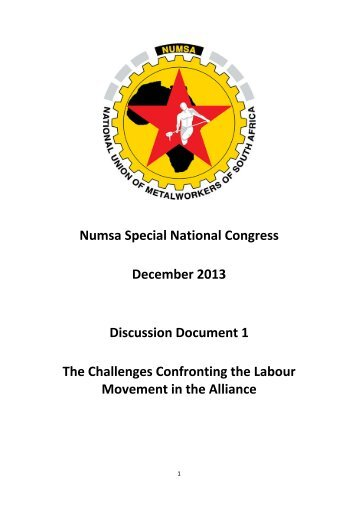 Numsa Special National Congress December 2013 Discussion ...