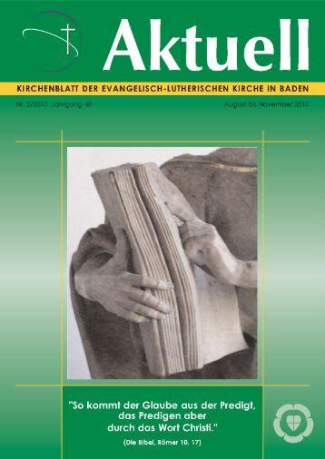 Aus den Gemeinden - Evangelisch-Lutherische Kirche in Baden