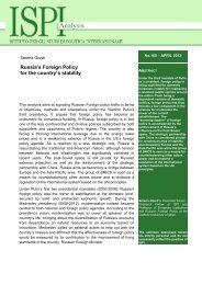Russia's Foreign Policy for the country's stability - Ispi