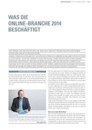 was die online-branche 2014 beschäftigt - Internet-Strategie und ...