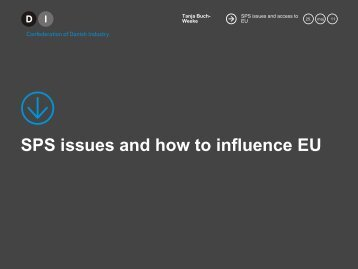 SPS issues and how to influence EU - DI