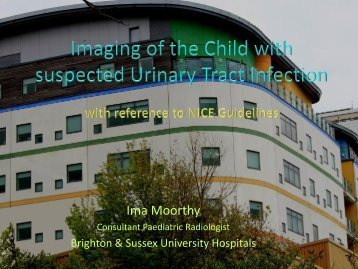 Imaging of the Child with suspected Urinary Tract Infection ... - UKRC