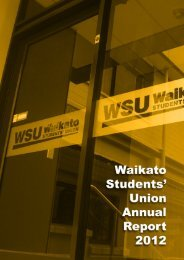 2012 Annual Report - Waikato Students' Union