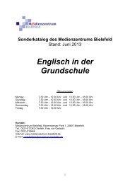 Englisch in der Grundschule - Medienzentrum Bielefeld