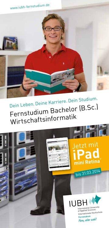 "Flyer ""Bachelor of Science (B.Sc.) Wirtschaftsinformatik"" - IUBH"