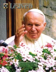 Blessed John Paul II Blessed John Paul II - Saint Vincent Seminary