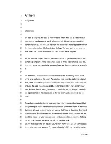 Anthem Study Guide - Practice Test Questions & Final Exam ...