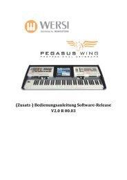 (Zusatz-) Bedienungsanleitung Software-Release V2.0 R ... - Wersi