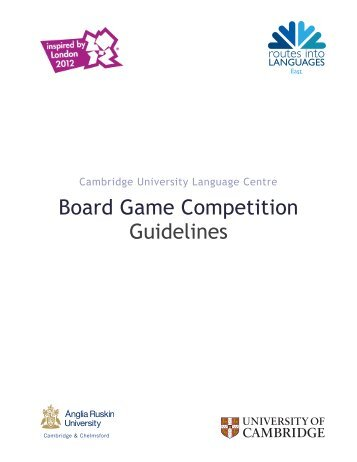 Board Game Competition Guidelines - Routes Into Languages