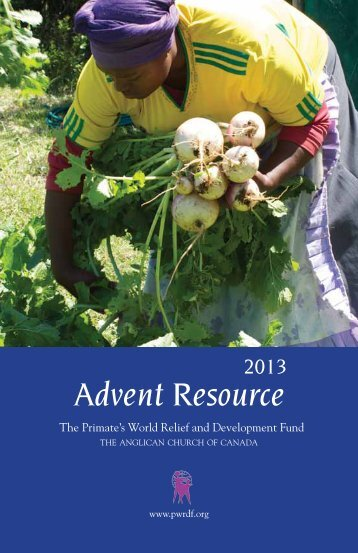 Advent Resource - The Primate's World Relief and Development Fund
