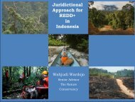 Lessons on jurisdictional REDD+ from Berau ... - REDD Indonesia